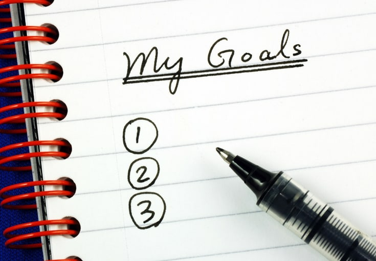 A list of personal goals