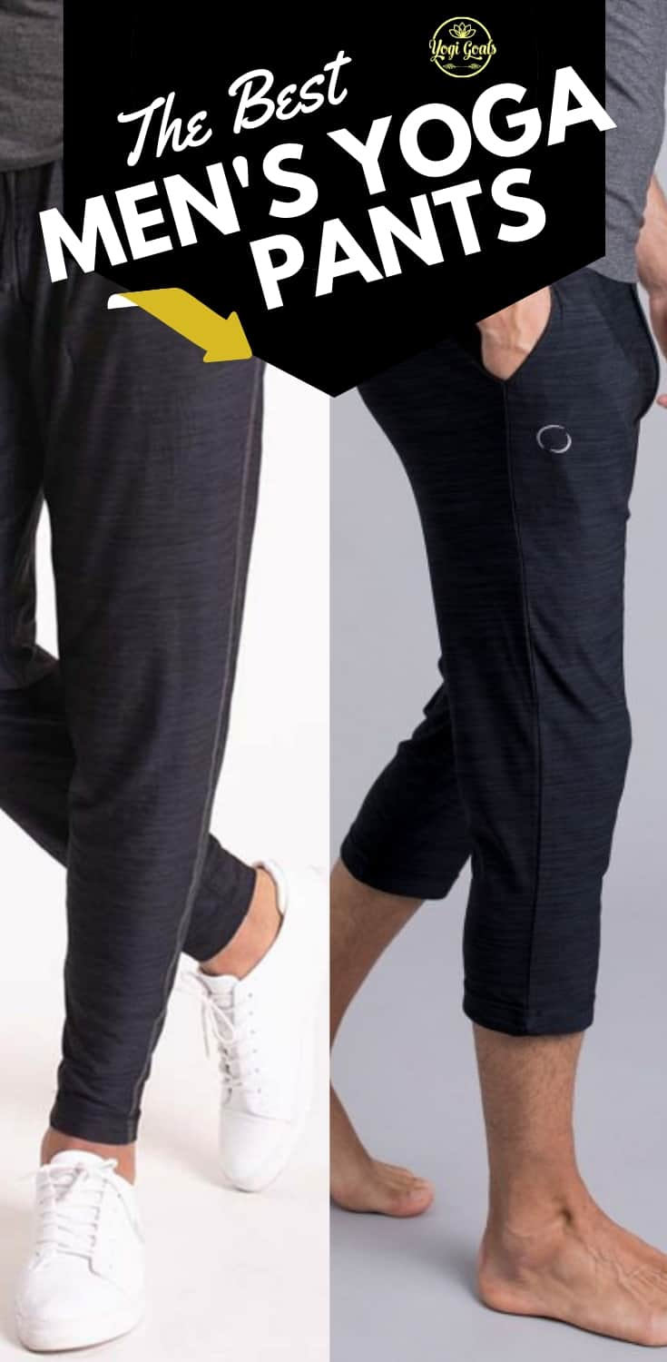 Yoga pants for men are here, and they\'re every bit as comfortable as you might think! Discover the best men\'s yoga pants, tried & tested in my own yoga practice to make sure they\'re up to every yoga pose and sequence. #yoga #yogapants #yogapants #yogaapparel #yogadudes #yogafitness #yogainspiration #yogaleggings #yogaclothes #yogaformen