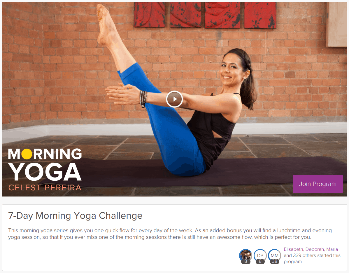 Grokker morning yoga challenge