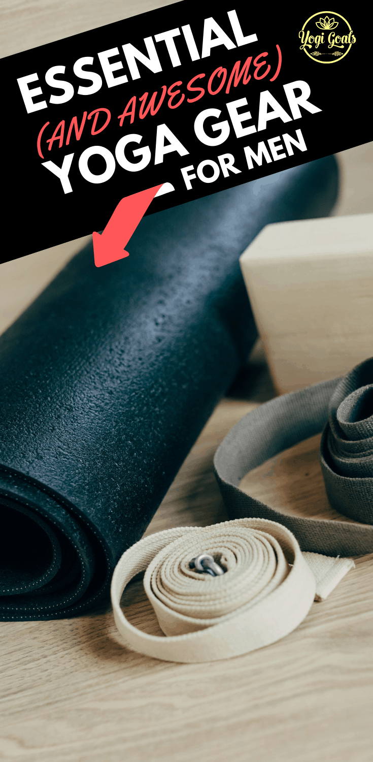 The best yoga mats, accessories and equipment that every man needs for a solid yoga practice at home or in the studio. Tried, tested and yogi approved. #yoga #yogatips #yogamat #yogaapparel #yogadudes #yogafitness #yogainspiration #yogaformen